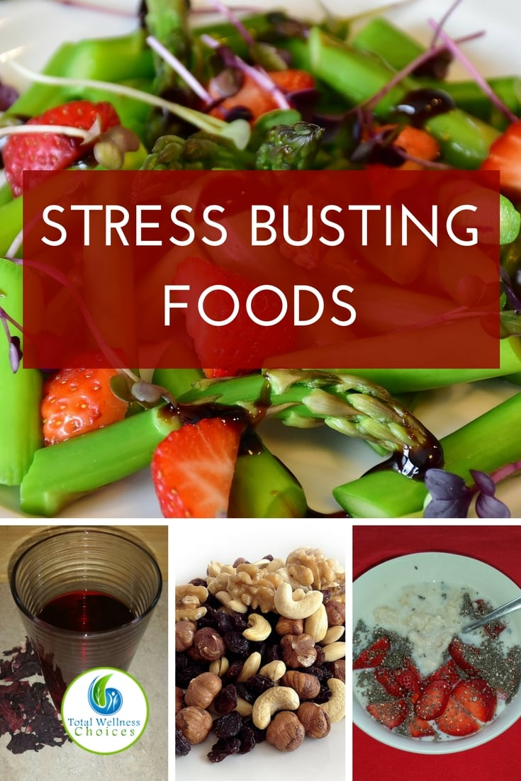 Reduce stress naturally with these stress busting foods! #naturalstressrelief #healingfoods #naturalremedies