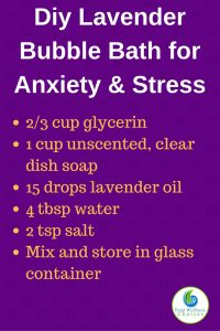 Diy Lavender Bubble Bath for Anxiety & Stress