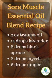 Sore Muscle Essential Oil Recipe