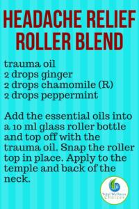 Headache relief roller blend