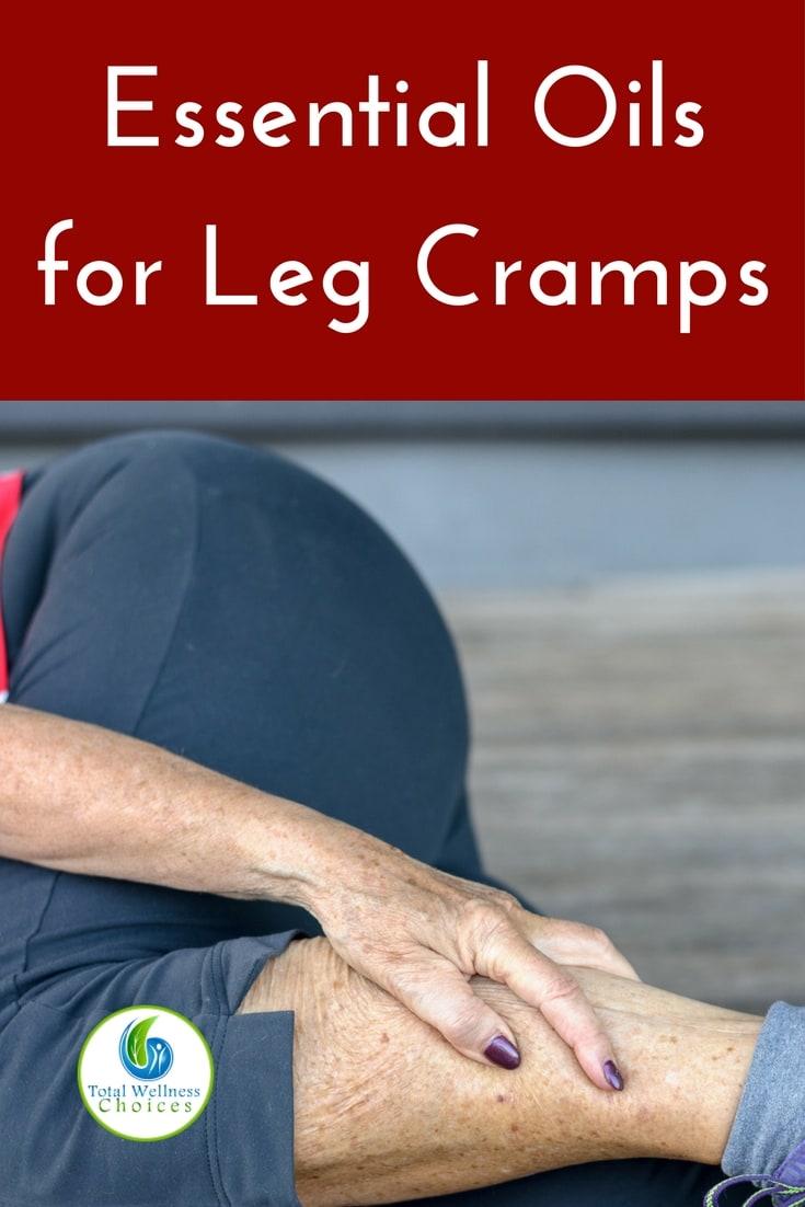 Discover the best essential oils for leg cramps (plus massage blend recipe)! #essentialoils #naturalpainrelief #legcramps #musclerelaxants