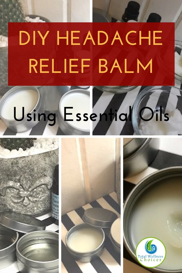 Learn how to make diy headache relief balm using essential oils! #headacherelief #essentialoils #headacheremedy
