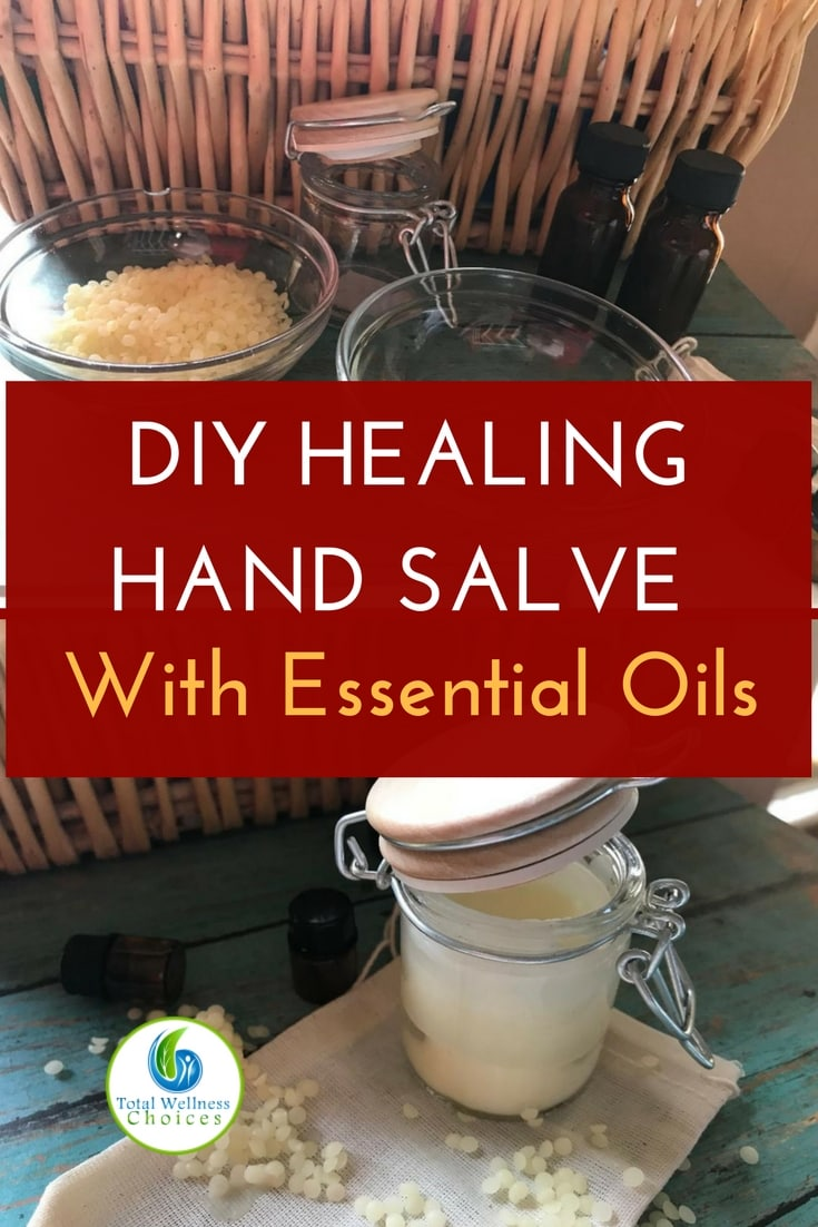 Use this diy hand salve recipe to make your own moisturizing and healing homemade hand cream with essential oils that will help keep your hands soft and youthful! #diyhandsalve #homemadehandcream #essentialoils #healingbalm
