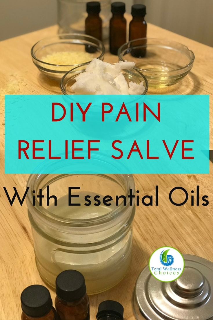 Homemade pain relief salve recipe for relieving sore muscles, aches and pains! #diypainreliefsalve #soremusclerelief #essentialoils #naturalpainrelief