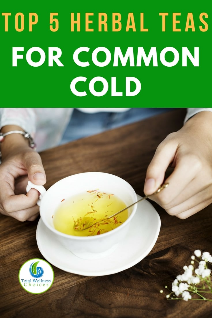 5 best herbal teas for common cold! #commoncoldremedies #naturalremedies #herbalteas