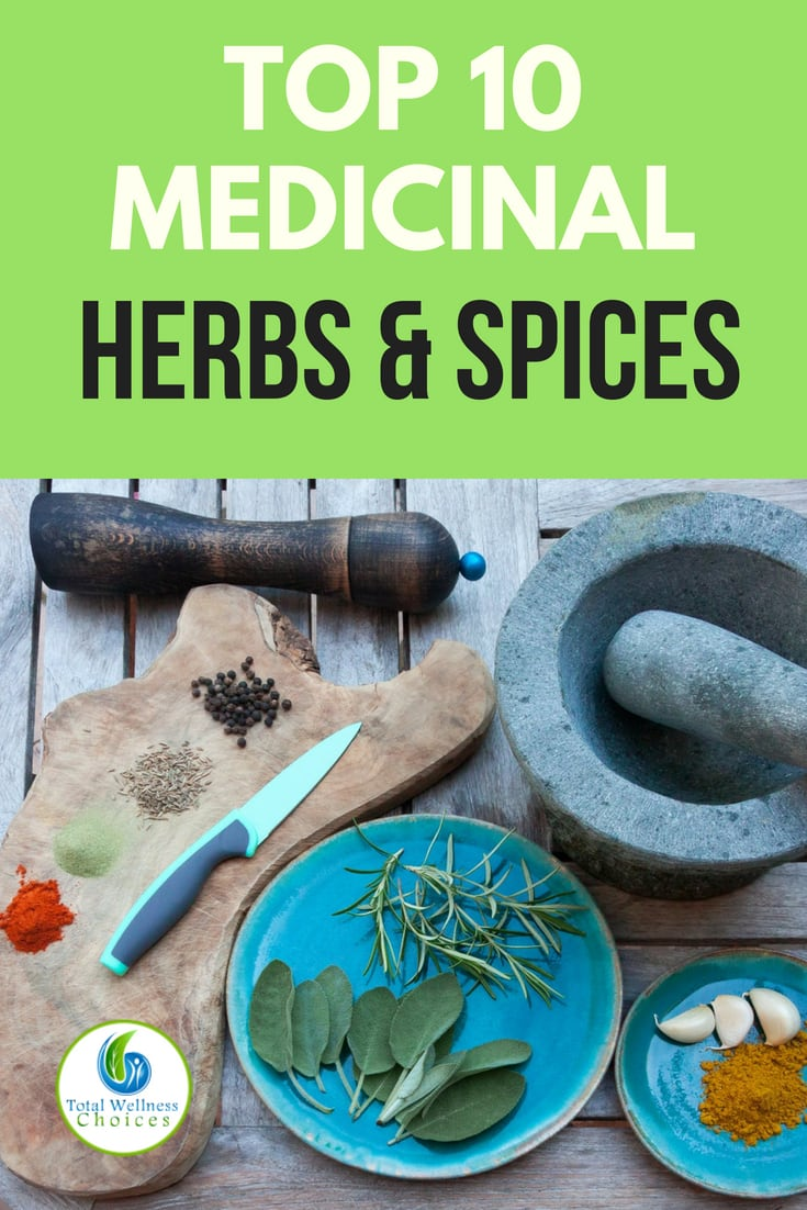 Discover top 10 medicinal herbs and spices for health. You can harness their healing properties by utilizing them as herbal remedies (herbal teas, syrups etc) or you can use them for cooking.