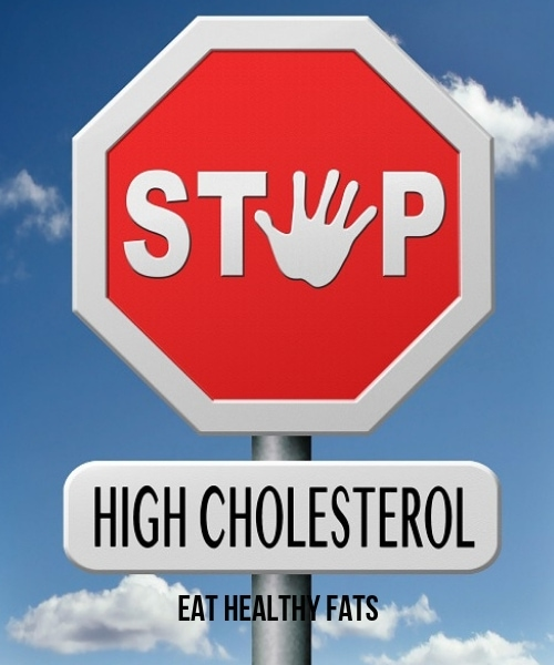 A photo of stop high cholesterol by eating healthy fats