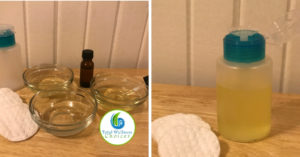 Homemade natural face cleanser