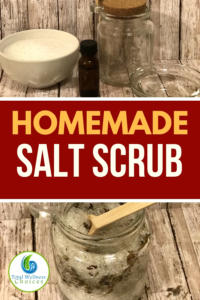 Homemade body salt scrub