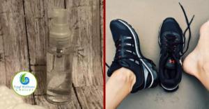 Homemade foot spray