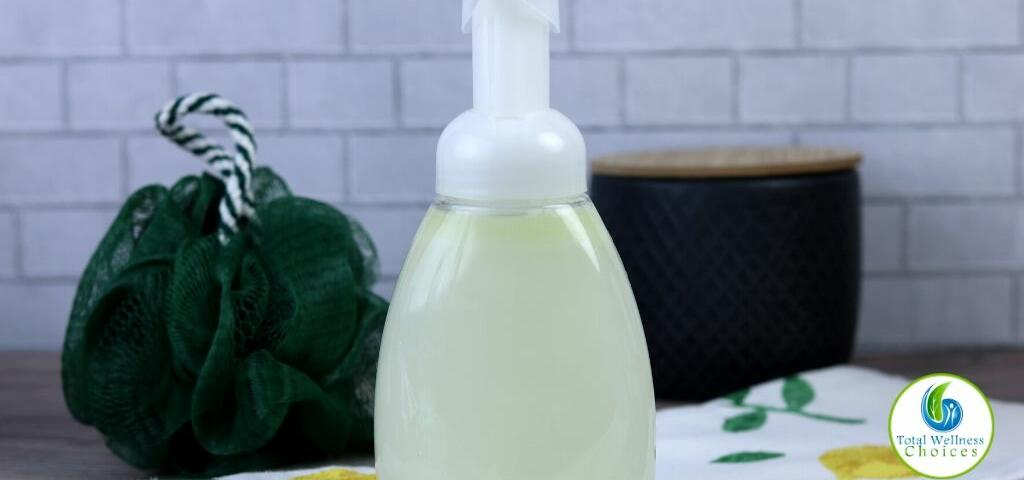 Homemade foaming body wash with Castile soap