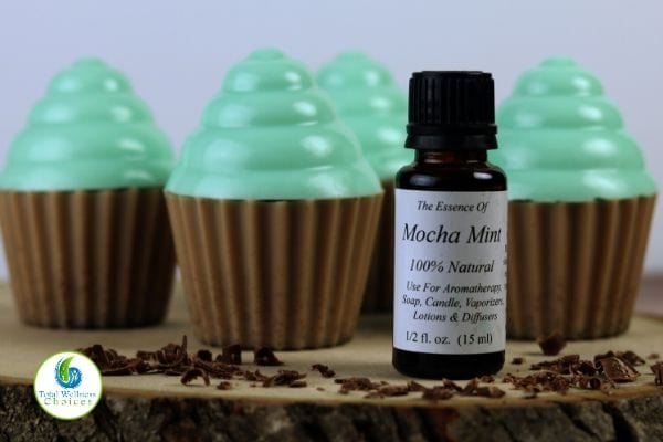 Chocolate mint soap cupcakes
