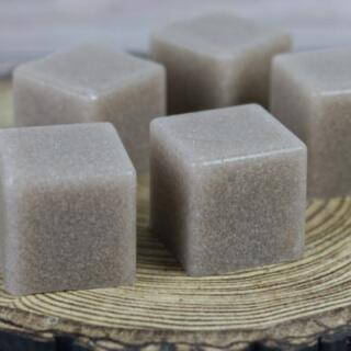 Chocolate sugar scrub soap cubes