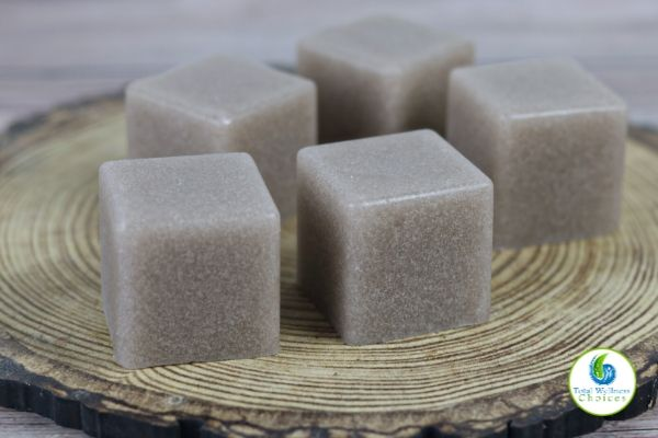 Chocolate sugar scrub soap cubes