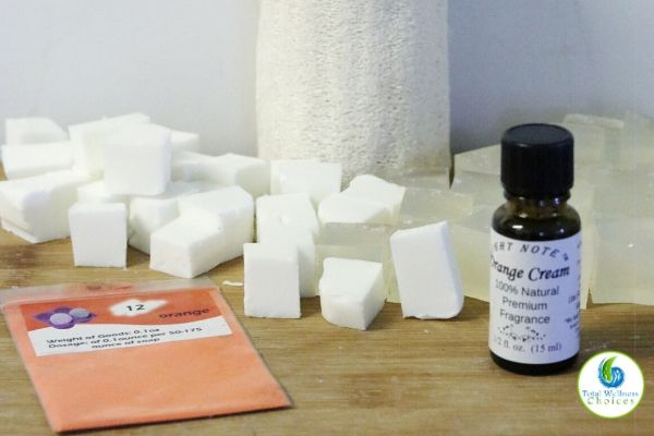 DIY loofah soap recipe ingredients