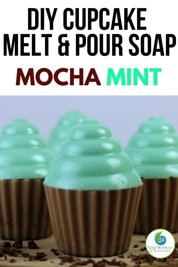 DIY mocha mint cupcake melt and pour soap recipe