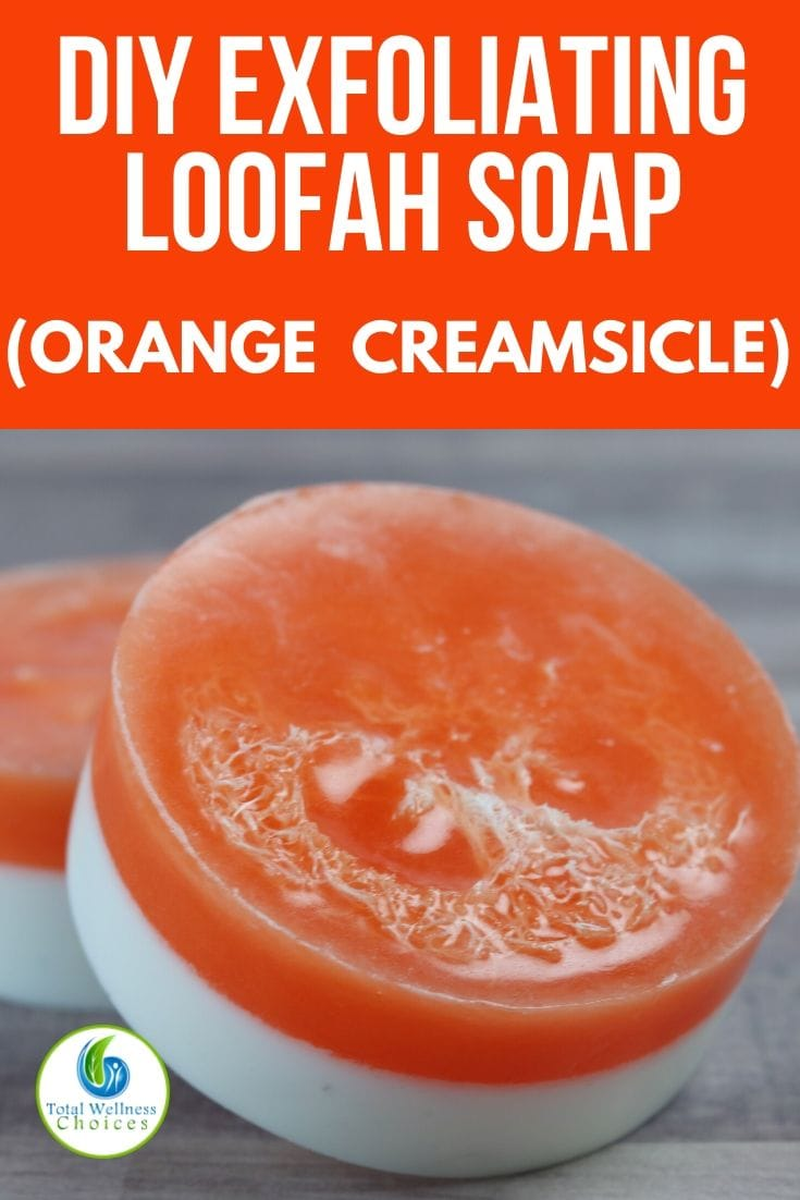 DIY orange creamsicle loofah soap recipe