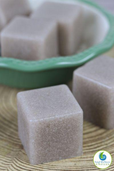Homemade sugar scrub soap cubes