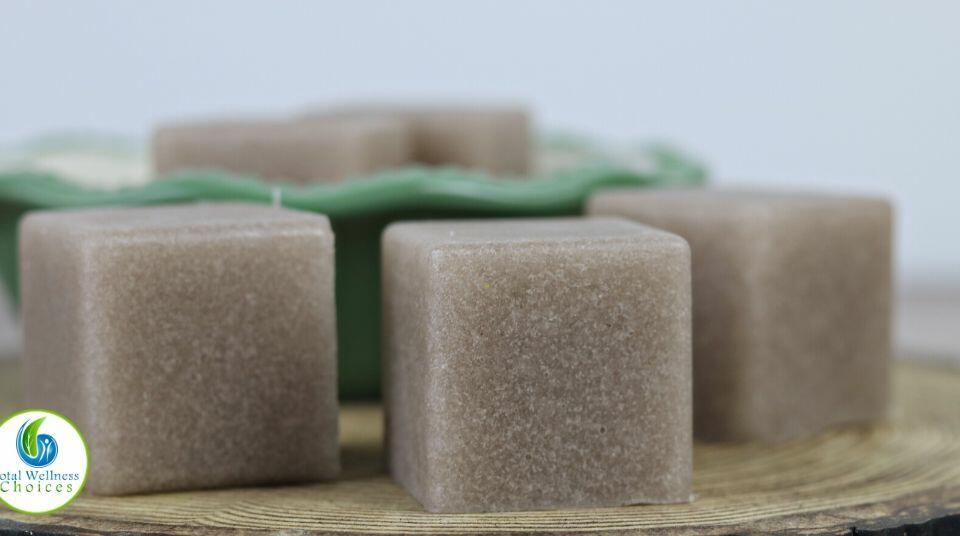 How to make sugar scrub soap cubes