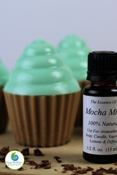 Mint chocolate cupcake soap