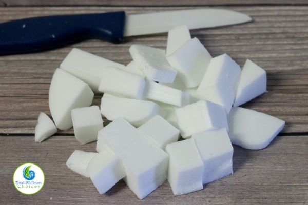 Sugar scrub soap cubes process photo 1