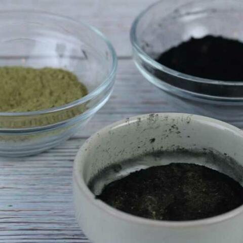 Charcoal and Matcha Green Tea Face Mask DIY Recipe