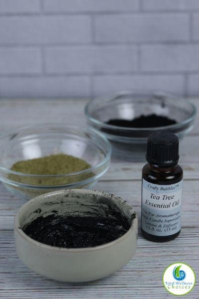 DIY charcoal face mask recipe with matcha green tea