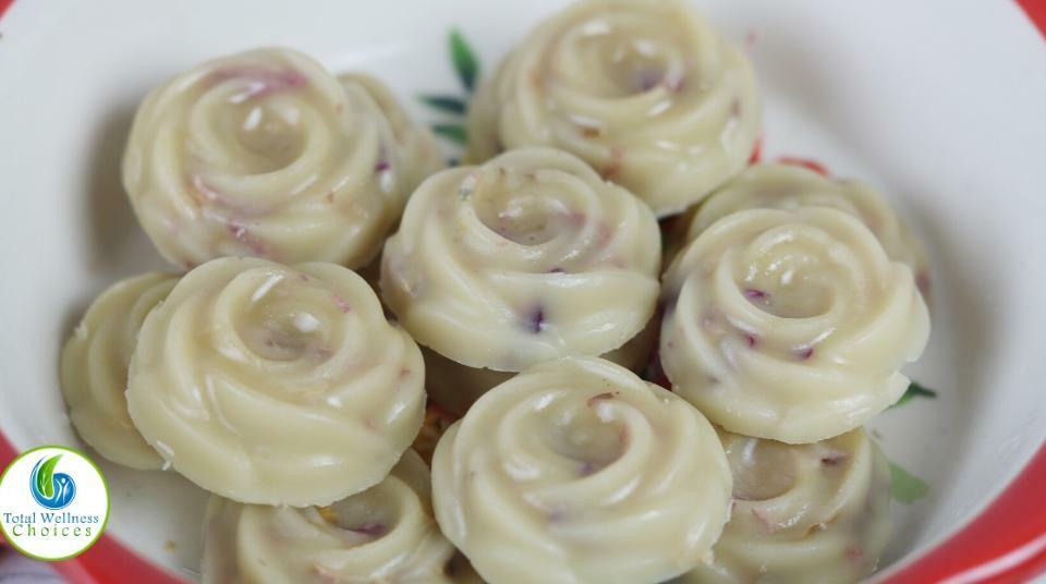 DIY rose bath melts recipe