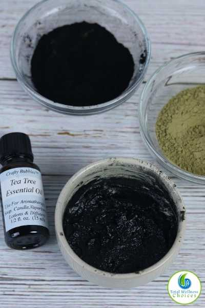 Homemade green tea face mask recipe with charcoal