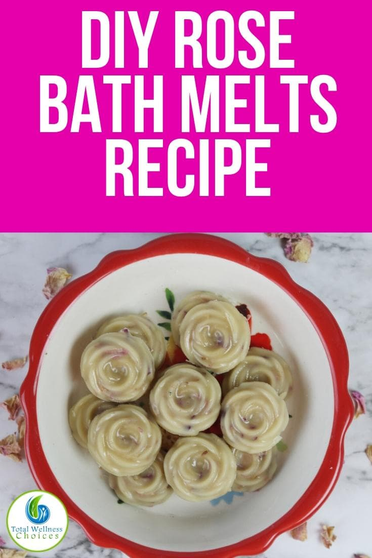 How to make bath melts with rose petals