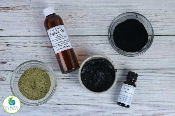 How to make charcoal and matcha green tea face mask